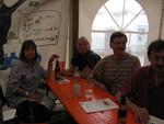 Auch die UnterstützerInnen der Streikaktion waren ganz begeistert. Anne und Martin Hornung, Betriebsräte in zwei Heidelberger Betrieben waren ebenso begeistert wie die IGM Senioren aus Mannheim.